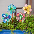 Goose Creek Floral Garden Stake Outdoor Plant Pick Water Proof Metal Flower Stick Décor for Lawn Yard Patio