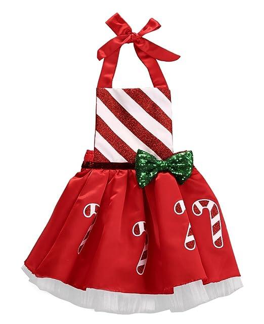 Amazon.com: Navidad bebé Kids Baby Girl lazo Bastón de ...