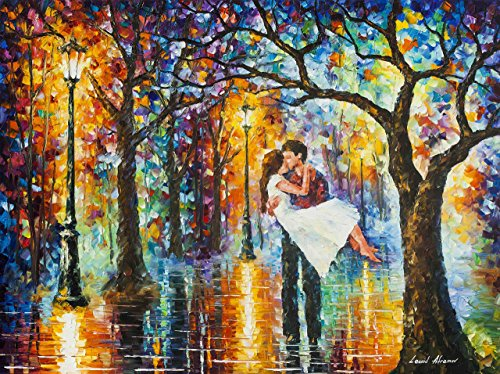 - Large Modern Oil Painting On Canvas By Leonid Afremov - Spring Emotions
