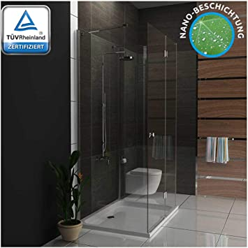 Cabinas de ducha 80 x 120/U forma de ducha con cristal los arañazos/Mampara/U ducha/baño/Easy Clean Cristal: Amazon.es: Bricolaje y herramientas