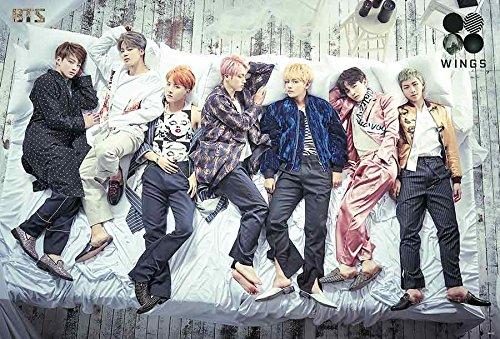 Music Poster Group - BTS 방탄소년단 Bangtang Boys : Wings (2016) Kpop Korea Boy Band Group Music Poster Size 16x24 Inch O-66137