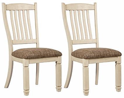 Ashley Furniture Signature Design - Bolanburg Dining Room Chair - Antique  White - Amazon.com - Ashley Furniture Signature Design - Bolanburg Dining