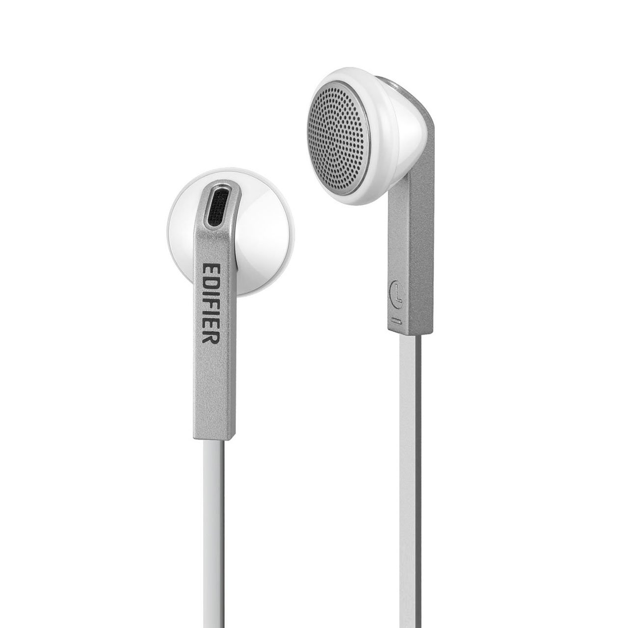 Edifier H190 Premium Earbuds - Classic Style Earbud Headphones - White Earphones with Non-tangle Wire by Edifier