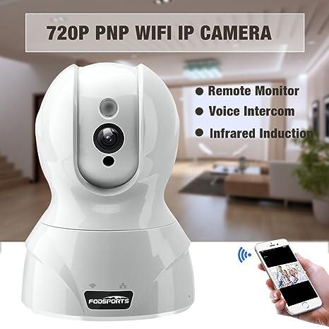 Fodsports Inicio Cámara de seguridad inalámbrica 720 HD IP WIFI Cámara Cámaras de vigilancia Cámara Nanny Cam con audio de alta fidelidad Visión nocturna ...
