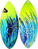 Skimboard / Wakesurf Board, Fiberglass/Carbon Fiber Avac by Apex, Up to 120lbs, Choose Size/Design, Bundled with Fedmax Ultimate Tips and Tricks Guide, Skim Board for Kids/Adults. Design 2, 41 In.