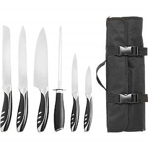 Slitzer Germany 7-Piece Professional Grade Chef's Cutlery Set