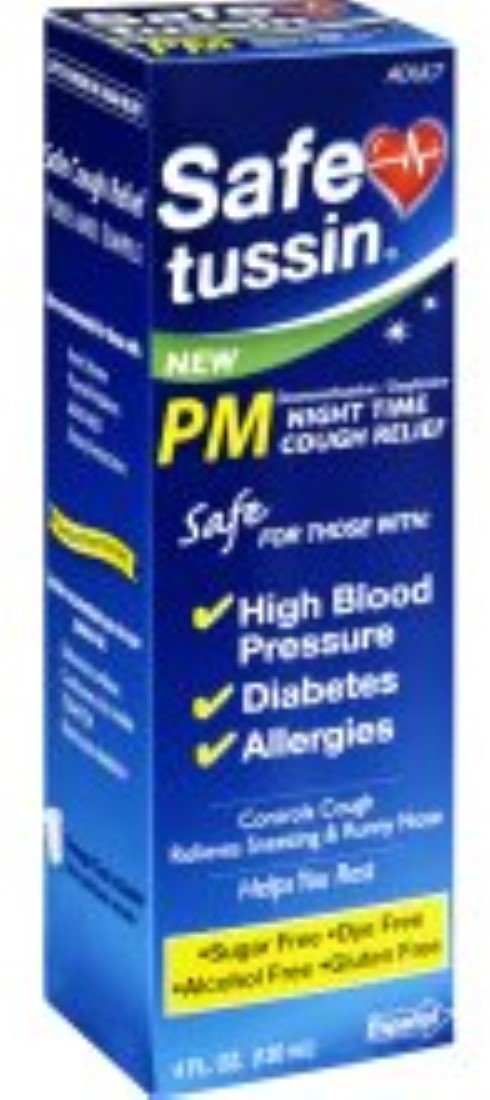 Safetussin PM Night Time Cough Relief 4 oz (Pack of 7)