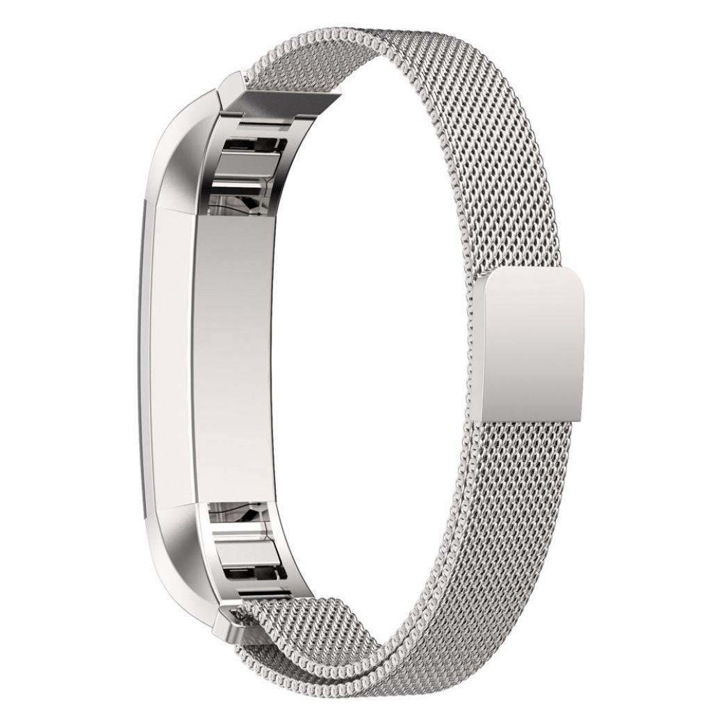 ikevan Fitbit ALTA Milanese磁気ループステンレススチールバンドfor Fitbit ALTA Smart Watch Band Length: 130-215mm シルバー B0777Q23DQ シルバー