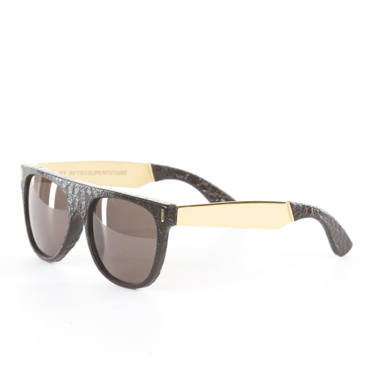 d45a66485068 Amazon.com: Retrosuperfuture Flat Top Francis Black Leather Super-WLW:  Clothing
