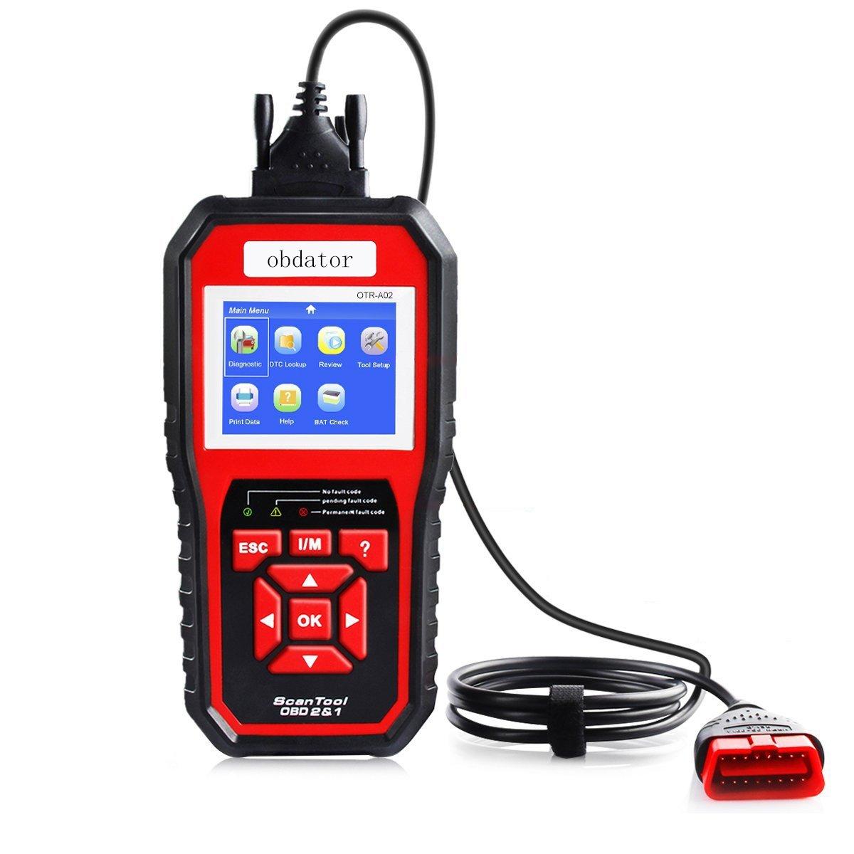 obdator OBD2 OBD Scanner Professional Car Diagnostic OBD Code Reader Enhanced OBDII Diagnostic Scan Tool