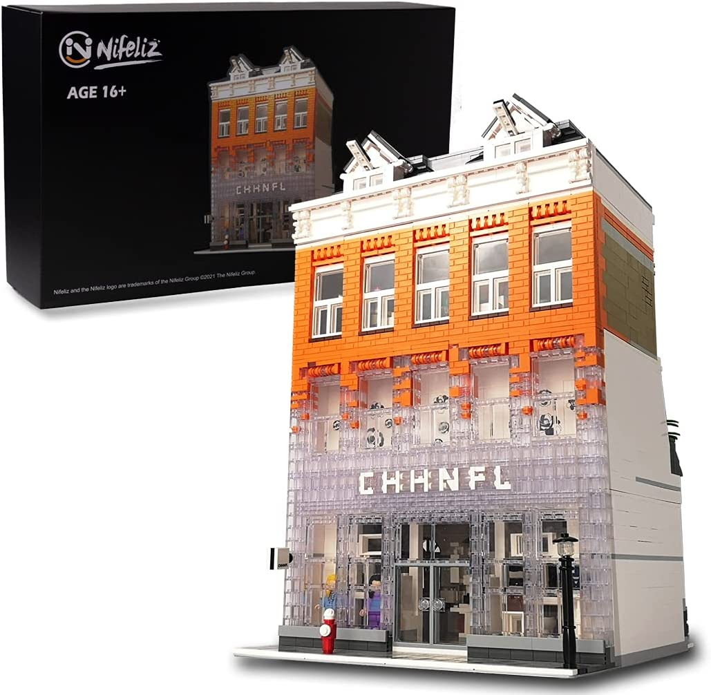 Nifeliz Street Crystal House MOC Building Blocks and Engineering Toy, Construction Set to Build, Model Set and Assembly Toy for Teens and Adult(3804 Pcs)