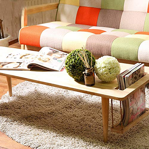 WoodShine Coffee Table Low Japanese Tea Table Trapezoidal Solid Wood Sofa Center Tables Cocktail with Storage Home Furniture