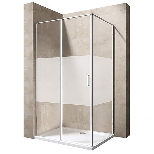 Mampara 90 x 120 ducha pared ravenna57ms con ducha Taza de ...
