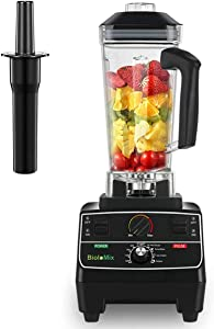 BioloMix Professional Countertop Blender Smoothie Mixer with 68oz BPA Free Pitcher, Smart Timer And Pre-programed Peak 2200W Power Mixer With 8 Blades for Crusing Ice, Frozen Dessert