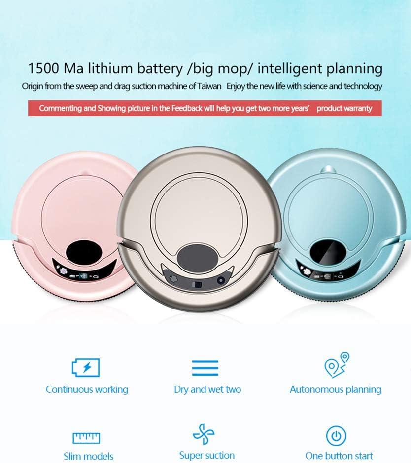 Starry sky Aspirateur robotique, Modes de Nettoyage Multiples, Nettoyage et Chargement faciles, Convient aux sols durs et aux Tapis Minces Pink