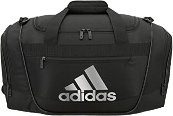 2111d691465 adidas Women s Defender III Small Duffel Bag, Black Silver, One Size