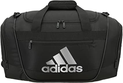 ad22ee411e2a adidas Women's Defender III Small Duffel Bag, Black/Silver, One Size