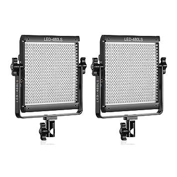 Bi-Color LED panel de video sistema de iluminación profesional entrevista Móvil Portátil