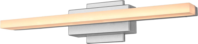 "VONN Procyon VMW11000AL 23"" Bathroom Lighting Fixture in Silver Integrated LED, 23.4"" L x 5.8"" W x 4.8"" H"