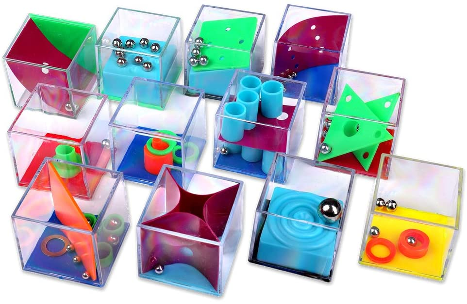 Schramm® 12 Juegos de Puzzle Mini Juego de Puzzle Niños Juego de cumpleaños de niños Juego de Habilidad