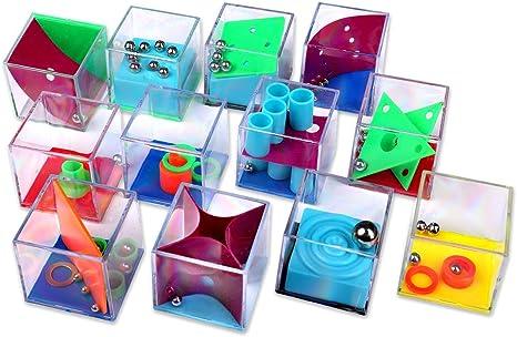Schramm® 24 Stück Geduldsspiele Mini Denkspiel Knobelspie