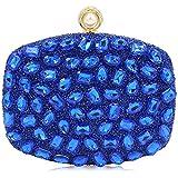 Women Evening Bag Diamond Clutches Crystal Clutch Purse Handbags For Wedding (Royal Blue)