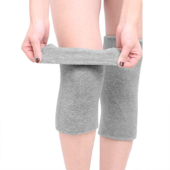 Pair Knee Warmer Wrap Support Muscle Care Compression Bandage Breathable Stretch