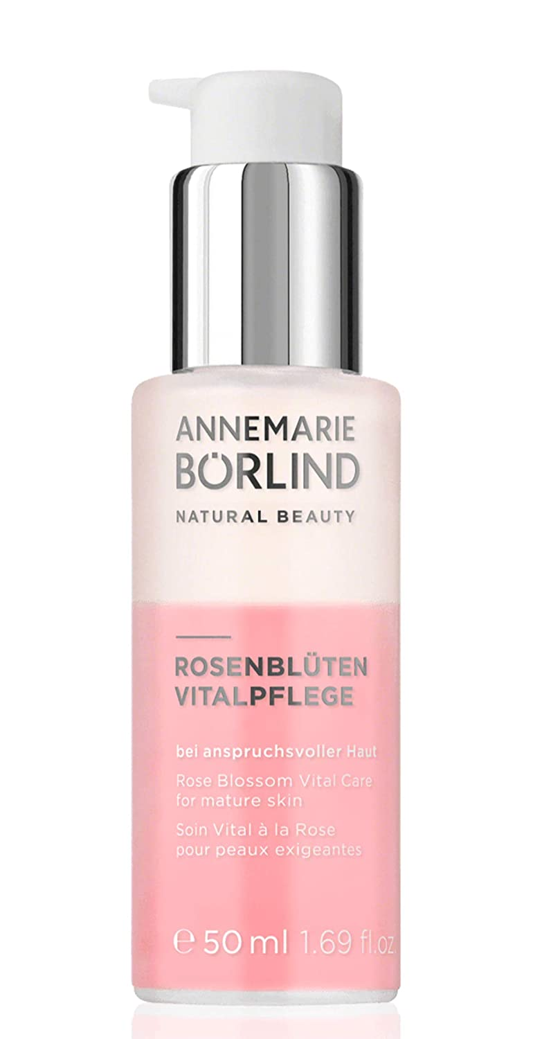 ANNEMARIE BÖRLIND – Rose Blossom Vital Care – Black Forest Rose Stem Cells, Vitamin C + E Anti Aging Face Serum With Valuable Plant Oils for a Vitalized and Smooth Skin – 1.69 Oz