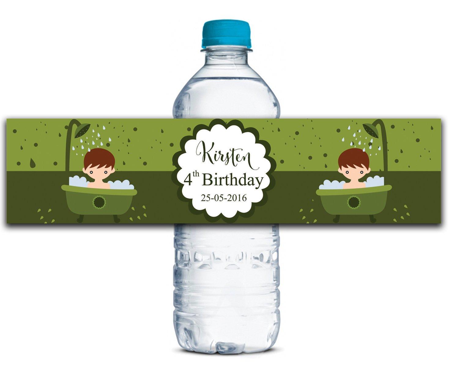Personalisierte Wasserflasche Etiketten Etiketten Etiketten Selbstklebende wasserdichte Kundenspezifische Geburtstags-Aufkleber 8  x 2  Zoll - 50 Etiketten B01A0W17CM | Viele Sorten  95c5a4