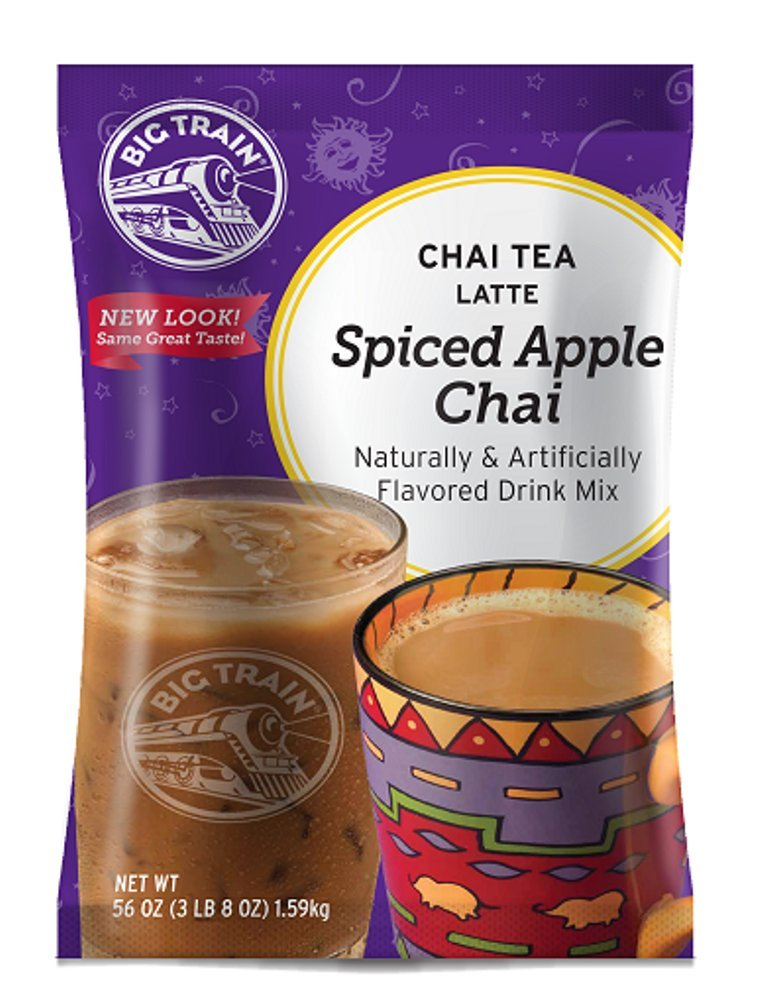 Big Train Chai Tea Latte, Spiced Apple, 56 Ounce, Powdered Instant Chai Tea Latte Mix, Spiced Black Tea with Milk, For Home, CafÃ, Coffee Shop, Restaurant Use