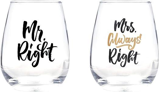 Always Right Wine Glasses Right// Mrs Mr 2