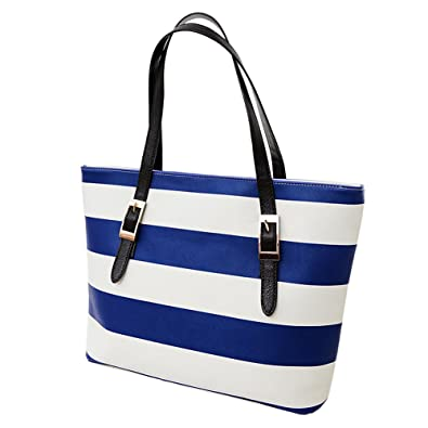 5f10826b0469 VonFon Bag Work Place Womens Stylish PU Color Striped Handbag