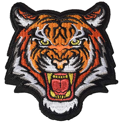 Tiger Embroidered Sew on Applique Patch - The Roaring Bengal Striped Striped Souvenir