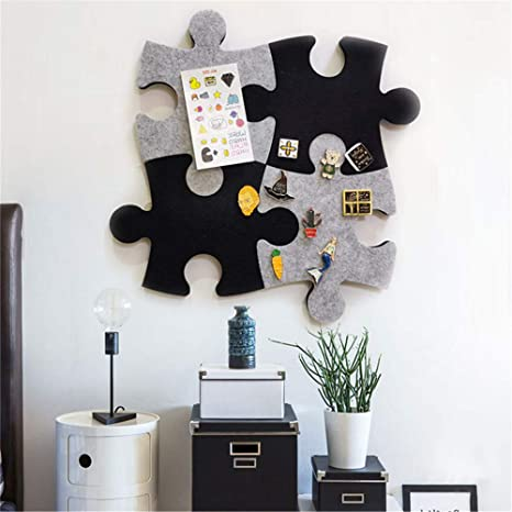 Set of Wall Puzzle Shape Pin Board w//Self Adhesive to Keep Memories Photos Memos Display Board Pads Pictures Drawing Goals Notes Colorful Foam Wall Decorative Felt Bulletin Board Cork Board Tiles