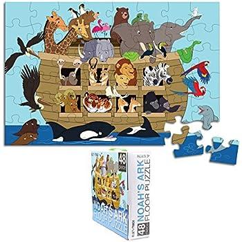 Amazon Com Floor Puzzle For Kids Noah S Ark Jumbo