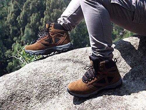 Stivale Trekking Alta Marrone da Escursione Arrampicata da … da Scarpe Knixmax Donna Scarpe Impermeabile 5qUaP