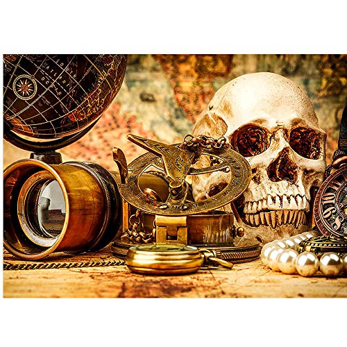 5D DIY Halloween Scary Diamond Painting Skull Embroidery Cross Stitch Crafts Art Home Wall Decor Gift by Swyss 15.7x11.8inch -