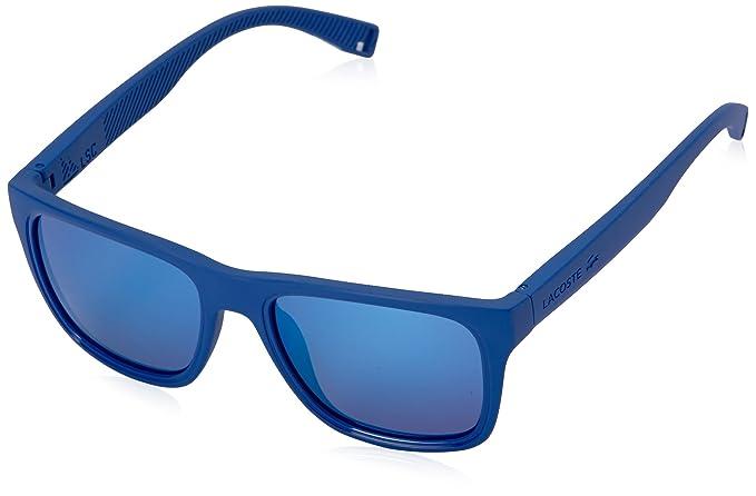 99e7314b38 Lacoste L816S - anteojos de sol rectangulares para hombre, Azul mate, 54 mm