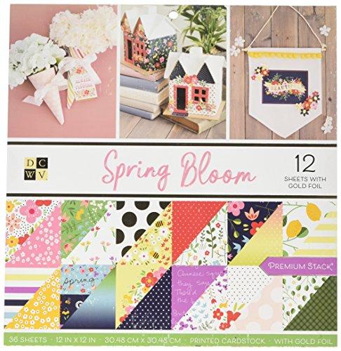 DCWV 609067 Spring Bloom Paper, Multi