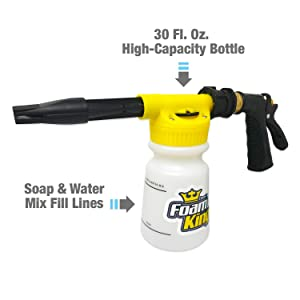 Foam King - The King of Suds - Deluxe Car Wash Sprayer - Car Foam Gun - Suds Maker
