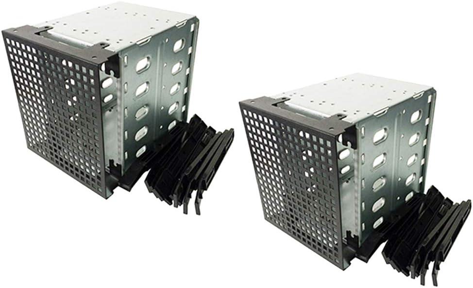 Almencla 2 Pack De 5 Bahías 3.5 Pulgadas SATA Interno Unidad De ...