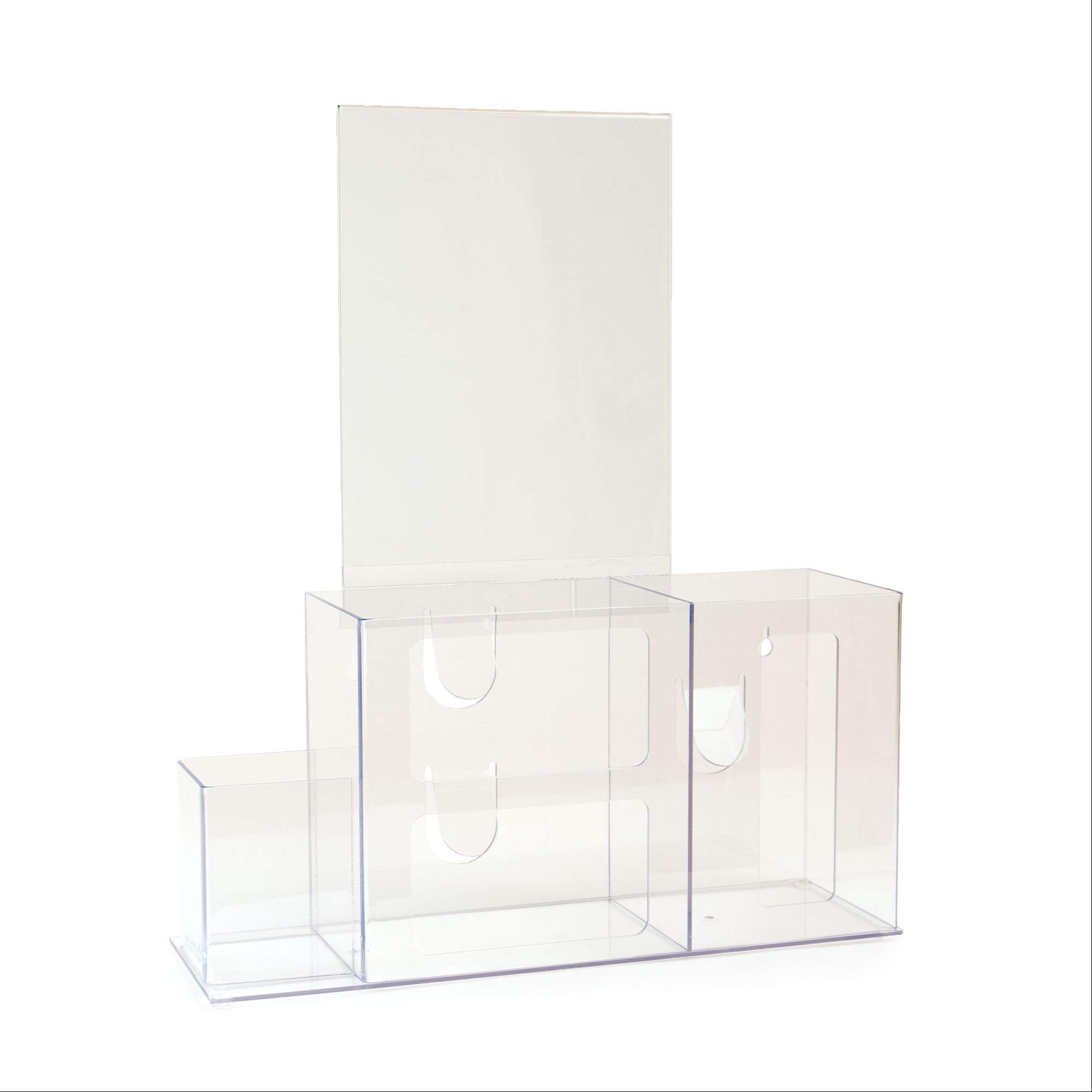 """Hygiene Station with Sign Holder 15""""W x 5""""D x 8""""H Sign Holder is 8.5""""W x 11""""H"""