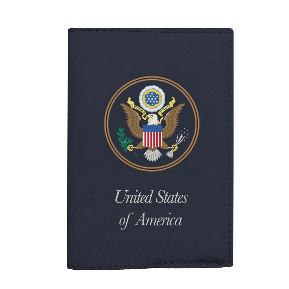 USA national passport holder handmade eco-leather