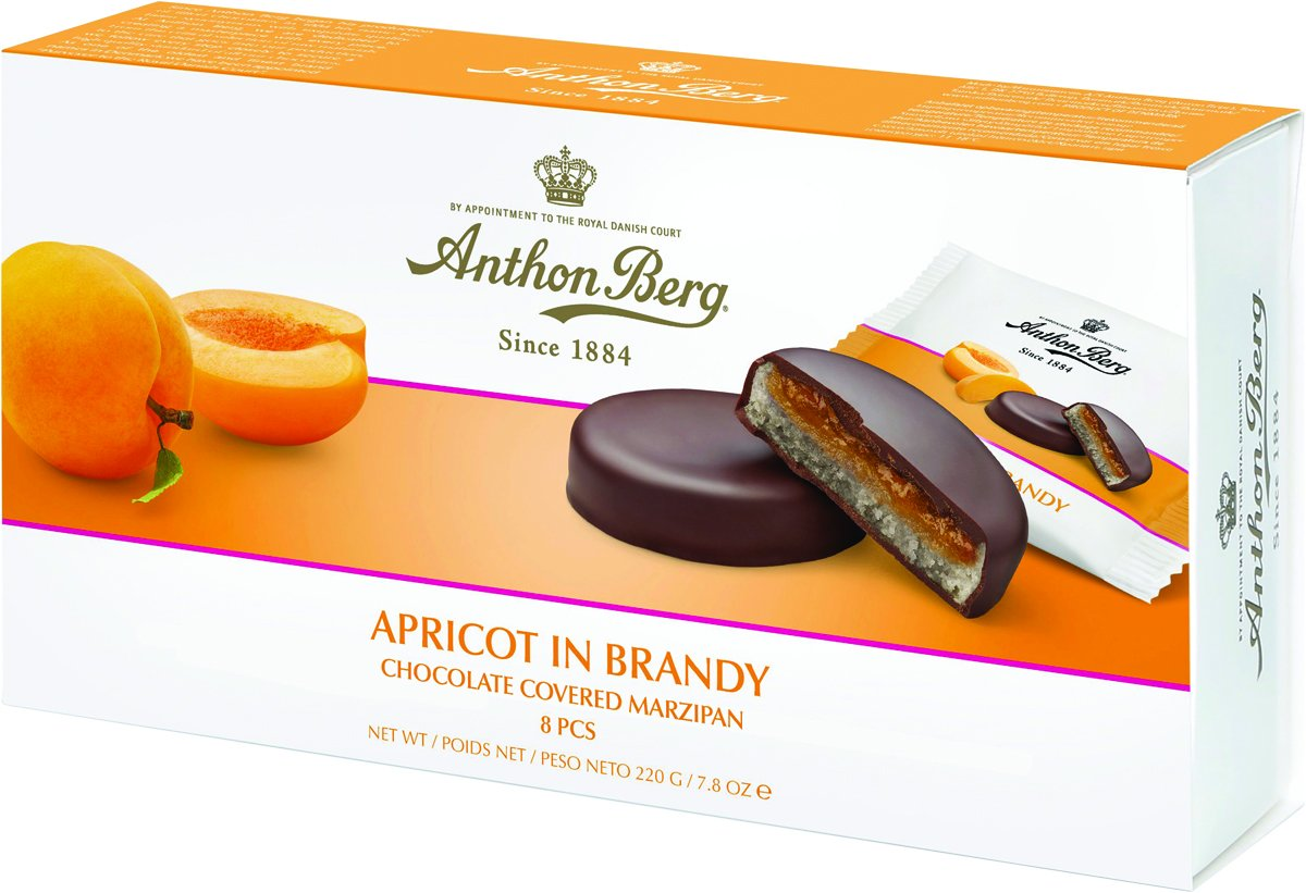 Apricot in Brandy Chocolate Marzipan by Anthon Berg