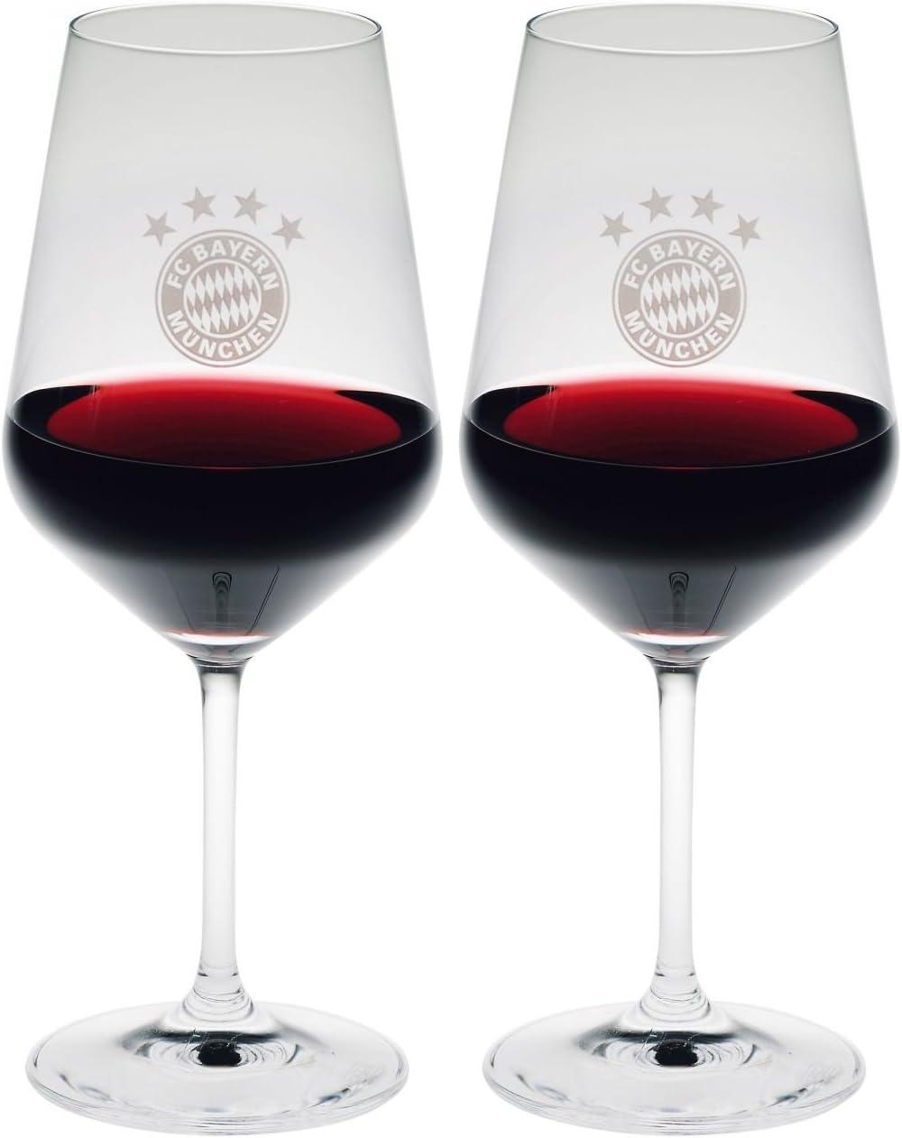 Plus Lesezeichen I Love M/ünchen Schoppen FCB Gl/äser FC Bayern M/ünchen Weinglas 2er-Set