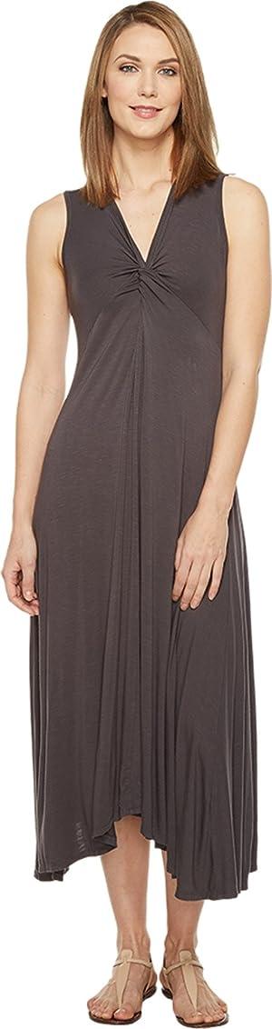 Mod-o-doc Womens Rayon Spandex Slub Jersey Twist Front Tank Dress