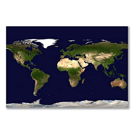 Poster Art Print Whole World Satellite Image Earth Map A1 Maxi