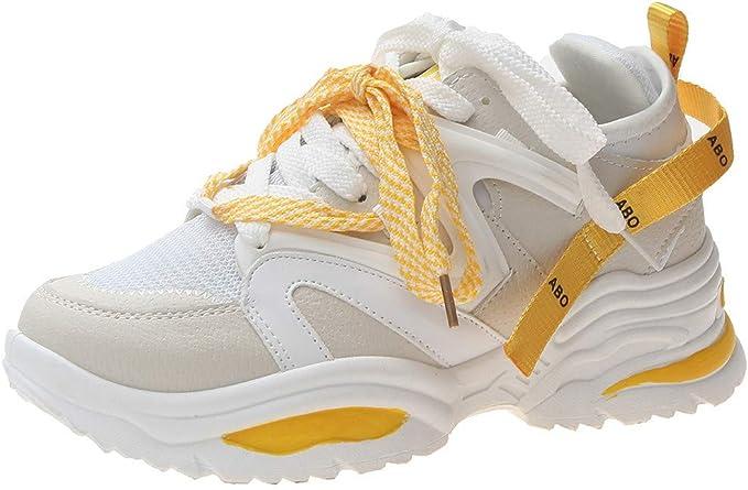 ZARLLE Zapatillas de Deporte Transpirables para Mujer, de Malla Transpirable, con Suela al Aire Libre, Zapatos Casuales,Zapatos Reflectantes: Amazon.es: Ropa y accesorios