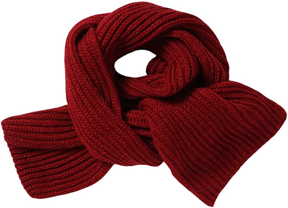 LOVARTS BEAUTY Warm Knitted Scarf Kids Children Boys Girls Winter Thermal Scarves Neck Warmers