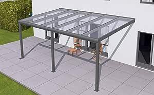 solidPREMIUM - Toldo para terraza (706 x 250 cm, aluminio, con 3 placas alveolares de 16 mm y accesorios), color gris antracita: Amazon.es: Juguetes y juegos